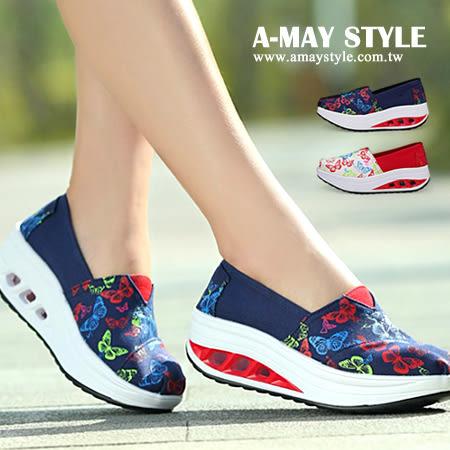 健走鞋-舒適透氣網布厚底健走鞋