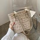 大容量包包女包新款潮網紅手提包時尚水桶包百搭側背包托特包 智慧 618狂歡