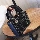 小方包 包包女新款mini鉚釘菱格小方包時尚簡約手提包單肩斜挎包 唯伊時尚
