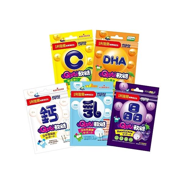 小兒利撒爾 Quti軟糖(25g) 活性乳酸菌/維他命C/晶明葉黃素/日本珊瑚鈣/藻油DHA【小三美日】