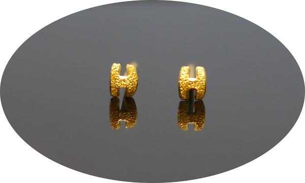 gold 黃金 耳環 金飾 保證卡 重量0.13錢 [ ge 058 ]