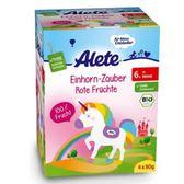 Alete紅色綜和水果果泥-獨角獸包裝90gX4包  6個月大以上幼兒適用【德芳保健藥妝】