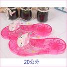 asdfkitty可愛家☆KITTY粉大臉兒童用浴室拖鞋/室內拖鞋-20公分-韓國製
