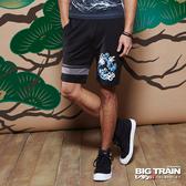 BIG TRAIN  浪花棉質短褲-男-黑-B5015788
