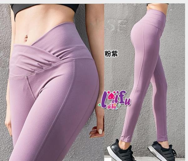草魚妹-B416運動褲露肚臍長褲路跑健身褲子正品,單褲售價599元