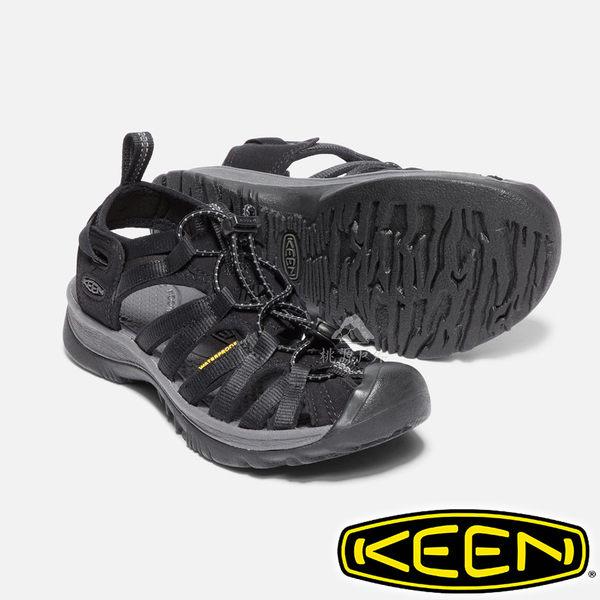 【KEEN 美國】Whisper 女護趾水陸兩用鞋『黑/灰』1018227 健行.涼鞋.自行車.溯溪.健走.海邊.沙灘鞋