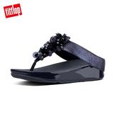 熱銷單一價!【FitFlop】經典款 立體珠飾造型夾腳涼鞋深藍色
