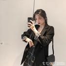 秋裝新款2019韓版寬松百搭氣質西服上衣春秋網紅格子小西裝外套女