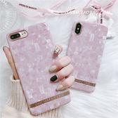 韓國chic大理石粉色蘋果6s手機殼iPhone7plus/8/X軟殼硅膠套女款【端午節免運限時八折】