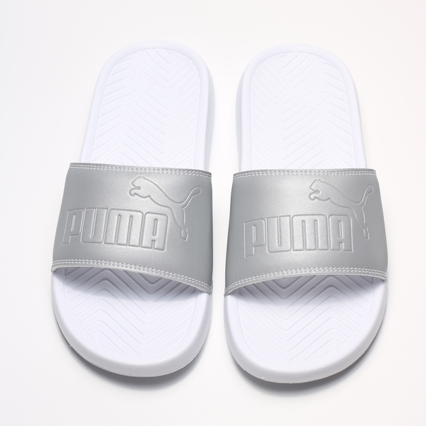 PUMA 白 銀反光 拖鞋 男女 (布魯克林) 2019/05月 36942201