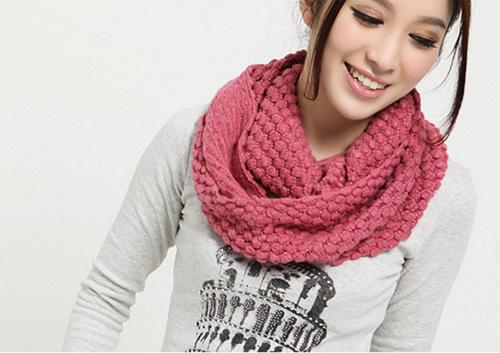 圍巾 圍脖 針織圍巾 韓國秋冬甜美可愛玉米粒針織圍脖 毛線圍巾披肩 (多色可選)【B7014】