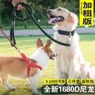 狗狗牽引繩 胸背帶狗項圈遛狗繩金毛狗鏈子大型中型小型犬寵物用品 降價兩天