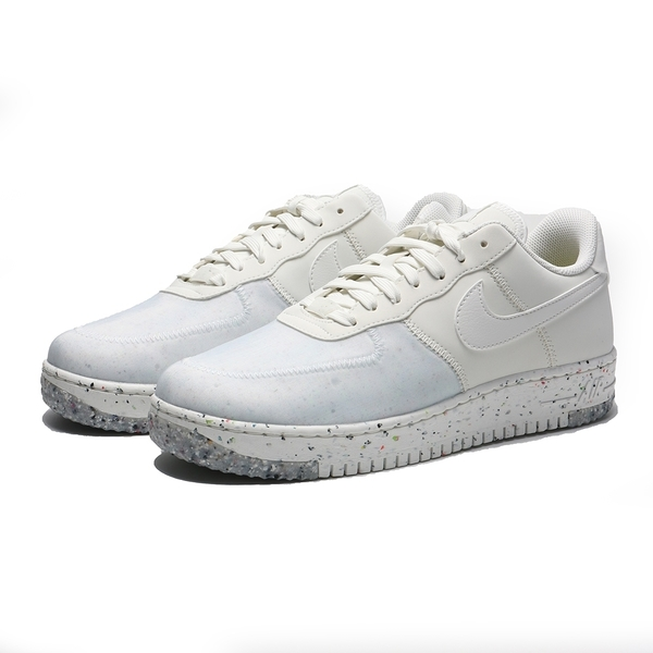 NIKE 休閒鞋 AIR FORCE 1 CRATER 白灰 皮革 復古 休閒鞋 再生材質 男 (布魯克林) CZ1524-100