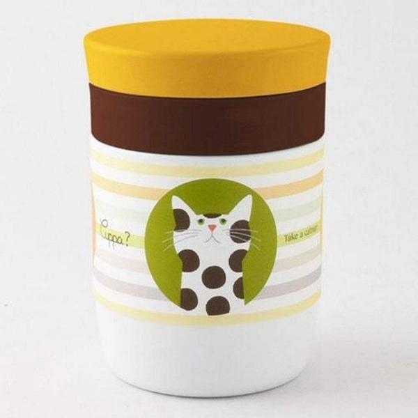 《齊洛瓦鄉村風雜貨》日本zakka雜貨 Sugar Land Cuppa? 貓咪保溫保冷杯 不銹鋼悶燒杯 380ml
