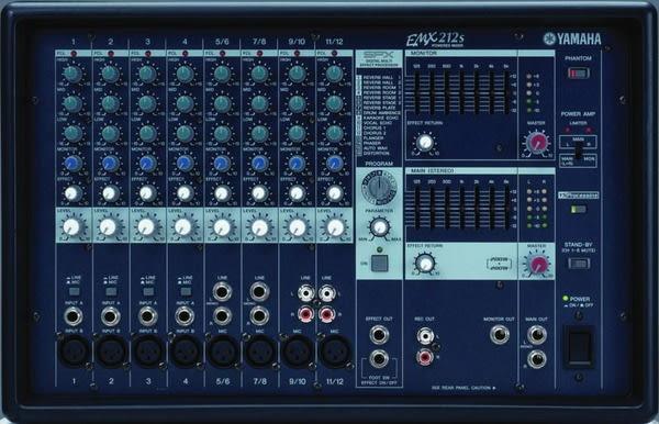 專業舞台音響 專業混音器 YAMAHA 功率混音擴大機 EMX-312SC 訊號控制器.舞台喇叭.廣播主機.