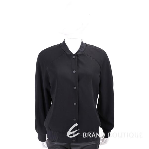 KENZO Tiger 經典虎頭刺繡黑色排釦棒球外套 1820203-01