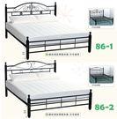 【南洋風休閒傢俱】時尚床台系列-5尺鐵床 SB086-1 -2