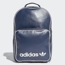 adidas 後背包 Classic Vintage Backpack 藍 白 三葉草 雙肩 皮面 男女款 背包 【ACS】 CD6985