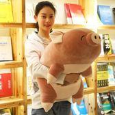 毛絨玩具豬豬公仔抱枕可愛超萌懶人抱睡覺娃娃玩偶女孩生韓國搞怪igo       智能生活館