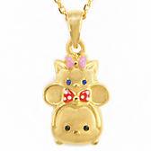 迪士尼系列金飾-TSUM TSUM造型黃金墜子-美妮&瑪麗貓款(加贈金色鋼鍊)