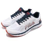 Fila J312S 慢跑鞋 白 藍 紅 基本款 輕量透氣 運動鞋 男鞋 【PUMP306】 1J312S132