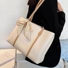 小眾設計大包包女夏2021新款潮蝴蝶結手提托特包大容量腋下側背包 伊蘿