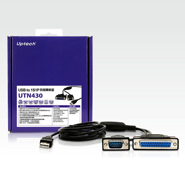 【中將3C】Uptech 登昌恆 UTN430 USB to 1S1P訊號轉換器 .UTN-430