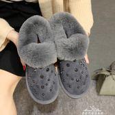 加厚雪地靴女加絨毛毛鞋冬季平底短靴女士保暖棉鞋韓版女鞋秋 『夢娜麗莎精品館』