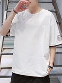 夏季男士短袖t恤男生純棉半袖寬松夏裝潮牌五分袖男韓版潮流體恤優品匯