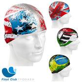 俄羅斯 成人矽膠泳帽 世界國旗版 - MADWAVE