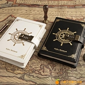 航海封皮密碼本帶鎖筆復古手帳日記本記事小學生魔法書手賬本【小橘子】