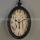 【協貿國際】美式鄉村復古懷舊臥室客廳廚房餐廳裝飾掛鐘