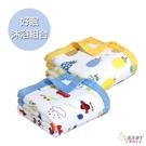 好眠沐浴組合 0-7歲 六層紗被+浴巾 鳳梨小車車 (嬰幼兒/寶寶/兒童/小孩/小朋友)