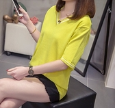 大碼衣著大尺碼針織上衣短袖T恤XL-4XL上衣韓系基本款R26.8851胖胖美依