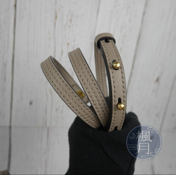 BRAND楓月 CHLOE NILE 膚色 掀蓋 單環包 馬鞍包 手提包 斜背包 單肩包