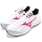 Mizuno 慢跑鞋 Maximizer 20 白 粉紅 基本款 女鞋 運動鞋【PUMP306】 K1GA1801-59