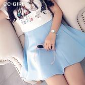 中大尺碼 清新百搭款純色顯瘦短裙~共兩色-適XL-4L《 62516G1 》CC-GIRL