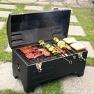 燒烤架 便攜式木炭燒烤爐車載戶外燒烤架野營室外木碳燜烤爐家用小型BBQ【快速出貨】
