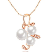 925純銀項鍊珍珠-質感優雅珍珠生日情人節禮物女墜飾73v179【巴黎精品】