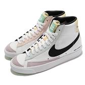 Nike 休閒鞋 Wmns Blazer Mid 77 白 黑 可拆膠片 電競主題 女鞋【ACS】 DO2331-101