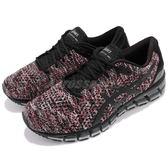 【六折特賣】Asics 慢跑鞋 Gel-Quantum 360 Knit 2 黑 紅 針織鞋面 全腳掌亞瑟膠 男鞋【PUMP306】 T840N-9023