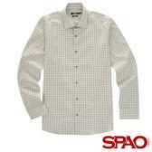 SPAO男款小格紋長袖襯衫-共2色