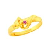 幸運草金飾-喜緣狐-黃金戒指-狐狸造型戒指