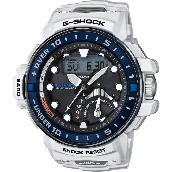 【CASIO】卡西歐 G-SHOCK MASTER 海軍進階版太陽能電波手錶-白 GWN-Q1000-7A