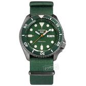 SEIKO 精工 / 4R36-07G0H.SRPD77K1 / 5 Sports 機械錶 自動上鍊 尼龍帆布手錶 綠x灰框x綠 41mm