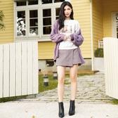 秋冬7折[H2O]粗針麻花組織開襟毛衣外套 - 紫/卡/灰色 #0650015