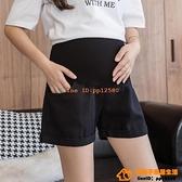 夏季純棉孕婦牛仔短褲薄款外穿時尚翻邊A字寬松顯瘦闊腿打底短褲【小桃子】