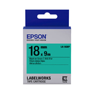EPSON LK-5GBP C53S655405 粉彩系列綠底黑字標籤帶 寬度18mm