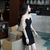 夏季新款韓版夜店赫本小黑裙氣質性感超仙修身顯瘦洋裝洋氣 錢夫人