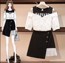 套裝裙中大尺碼兩件套XL-5XL時尚半身...
